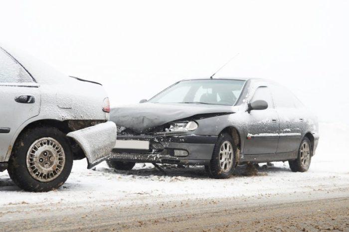 Car Crash In Winter