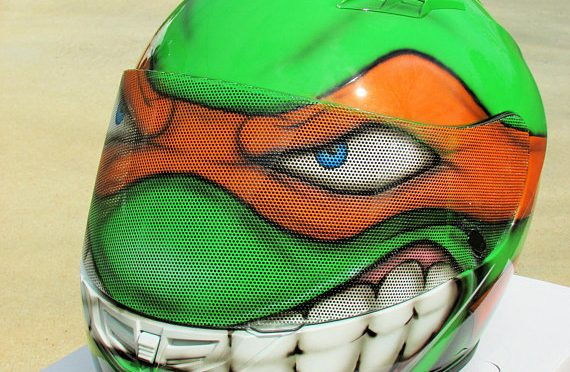 Custom Motorcycle Helmets - Ninja Turtles 1