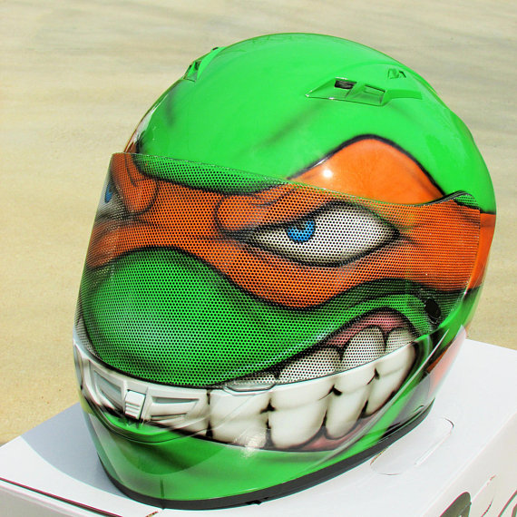 Custom Motorcycle Helmets - Ninja Turtles 1