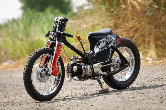 Custom Scooters 7 - The Eyes Honda C70 by Minority Customs