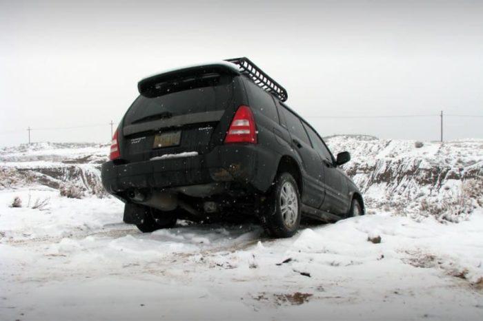 Four Wheel Drive Car Stuck