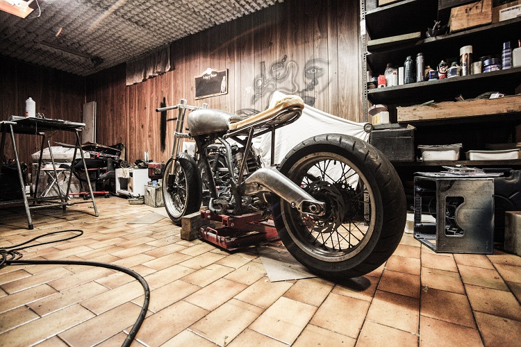 Home Motorcycle Repair - Garage