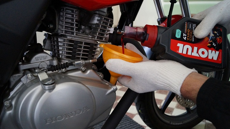 Home Motorcycle Repair - Oil Change