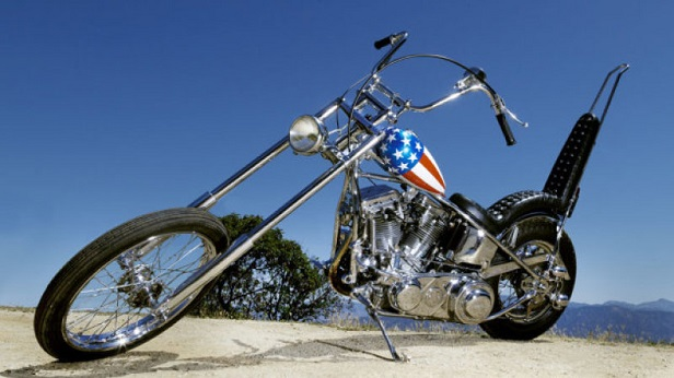 Vintage Motorcycles - Captain America Harley Davidson