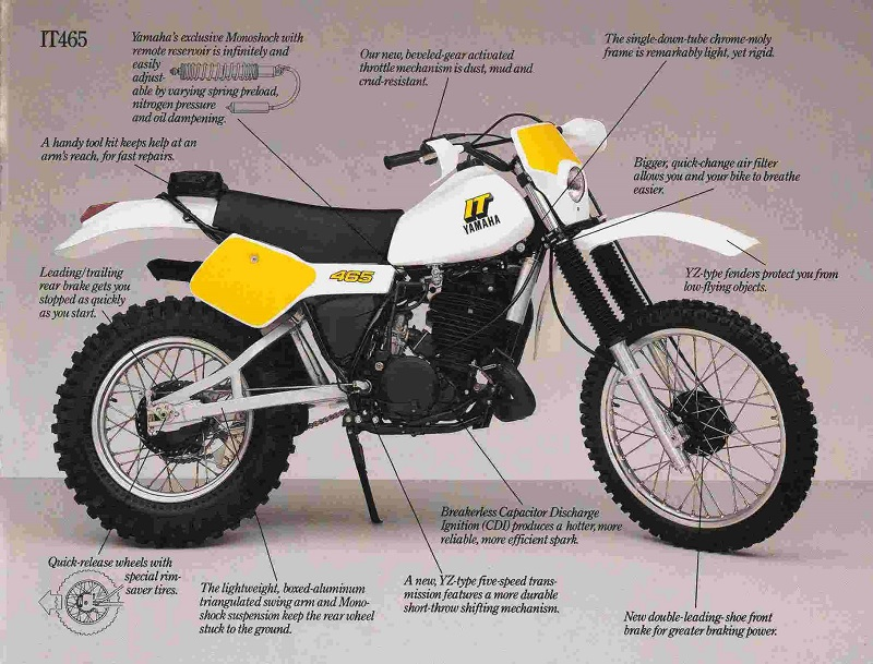 Yamaha Enduro - 1982 Yamaha IT465