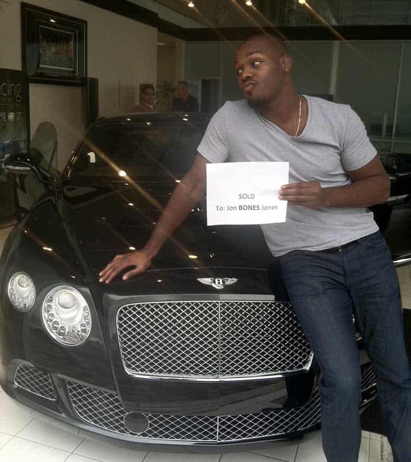 Jon Bones Jones Bentley Continental GT