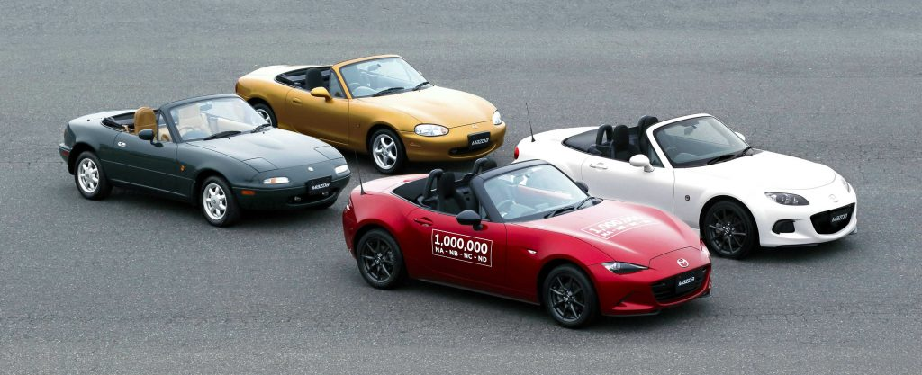 All Four Generations of the Mazda Miata MX-5