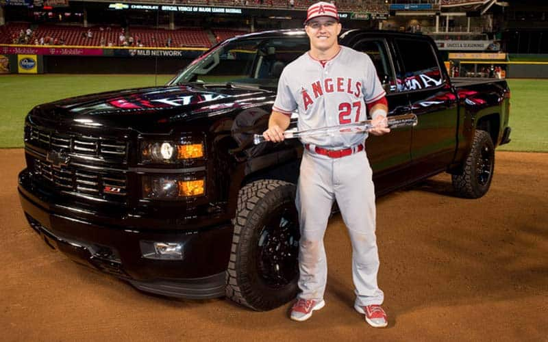 Mike Trout Chevrolet Silverado