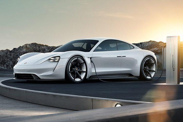 Porsche Mission E concept charging