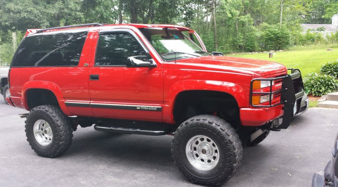 red chevy tahoe 1997 lifted supercharged