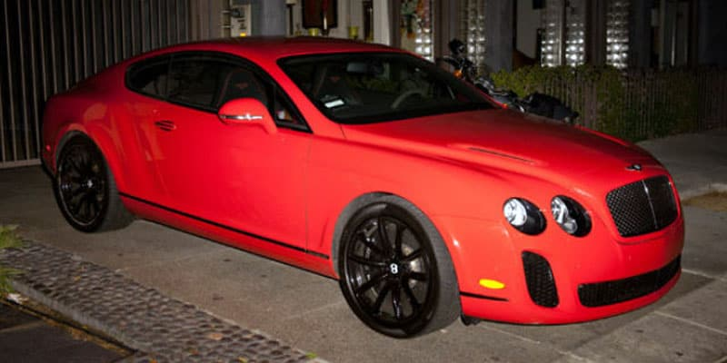 Serena Williams Bentley Continental