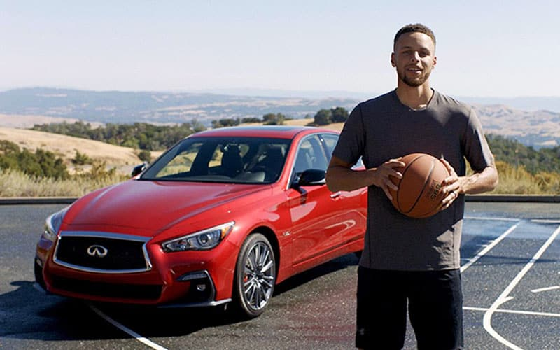 Stephen Curry Infiniti Q50