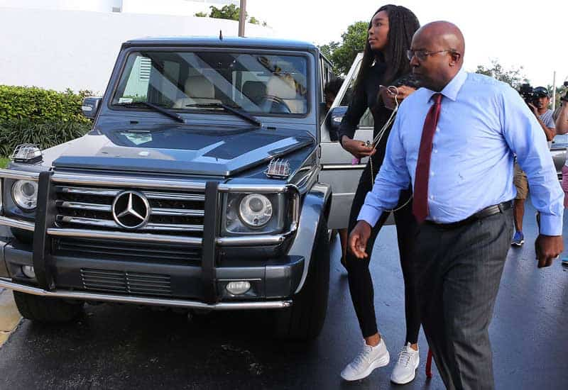 Venus Williams Mercedes G-class