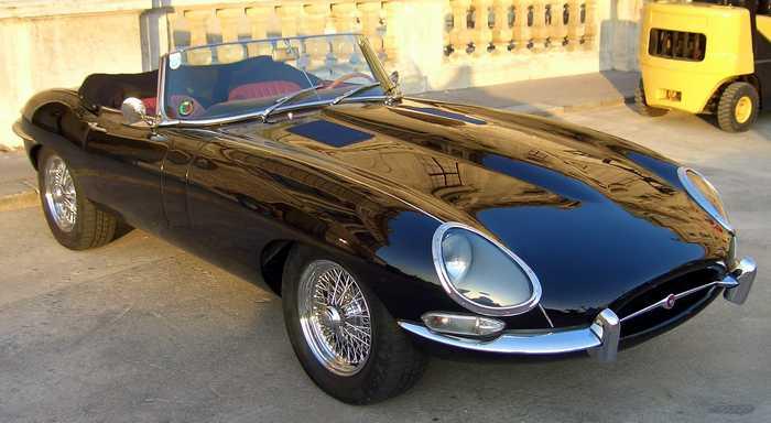 The E Type are Jaguar hot cars