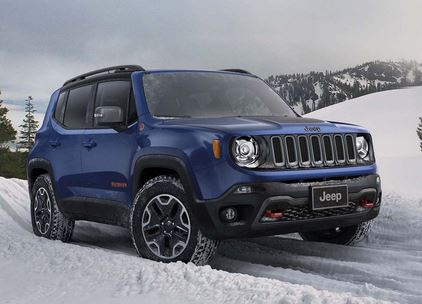 Jeep Renegade Front 3/4 - Sporty SUV