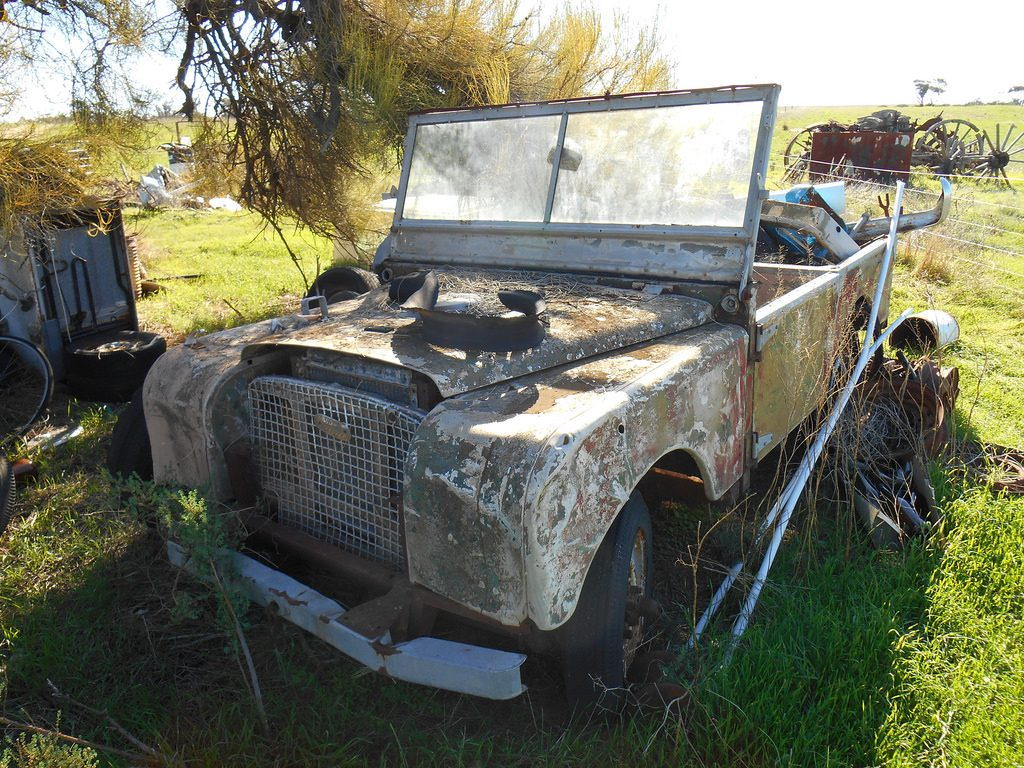 6 Land Rover Series 1 Abandoned Convertible SUV
