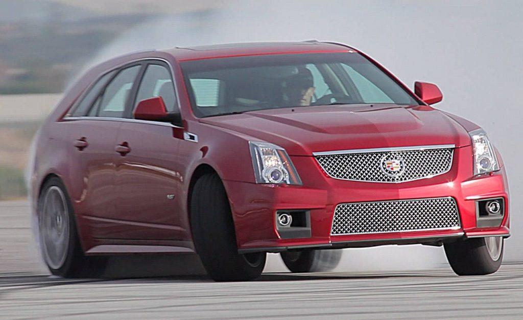 Cadillac CTS V Sportwagon Front 3/4 Drift