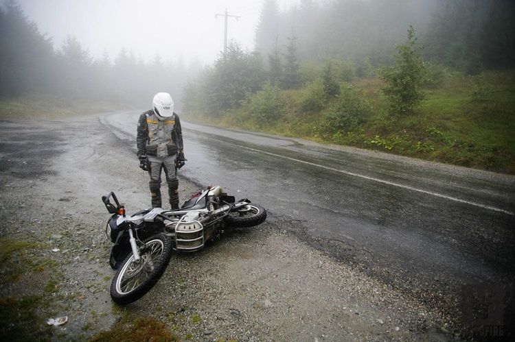 Motorcycle School - Dropped Bike