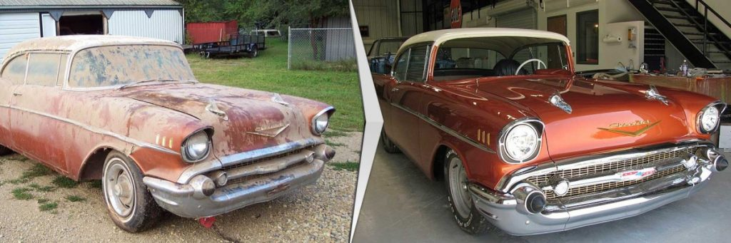 Car Restoration Project Before and After