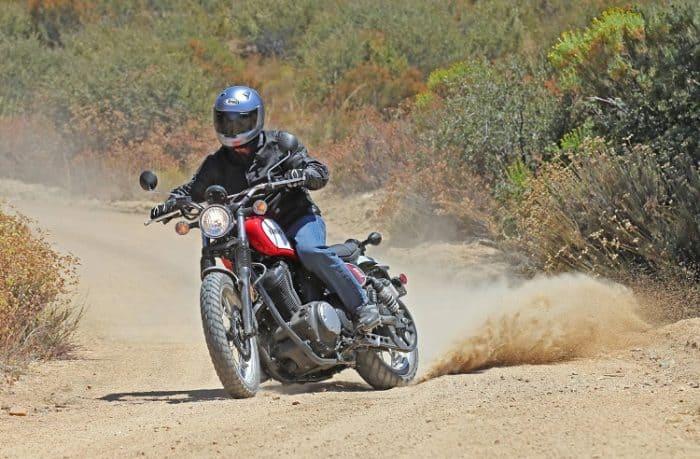 Scrambler Kicking Up Dirt