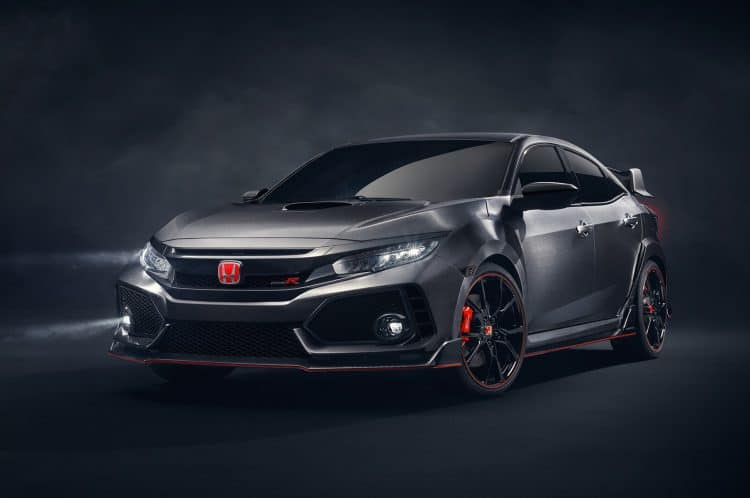Honda Civic Type R front 3/4 view