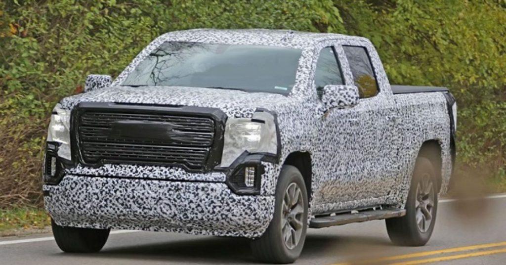 Best 2019 Trucks - 2019 GMC Sierra test mule 3/4 view