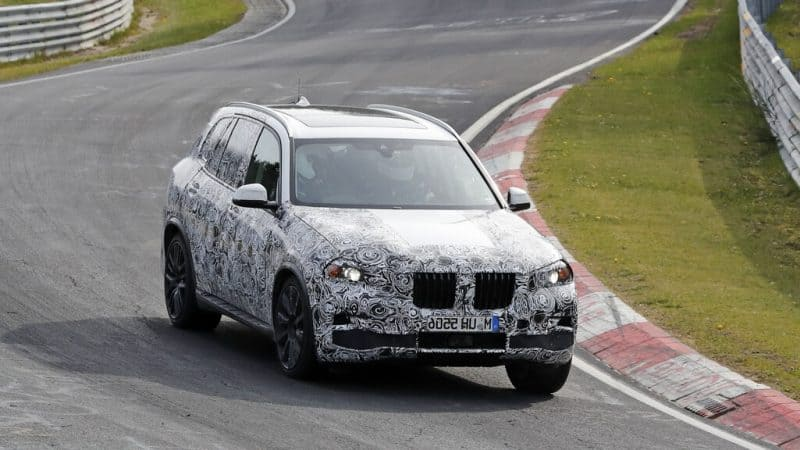 2019 BMW X5 test mule front 3/4 view