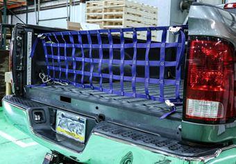 A Cheap Cargo Net Installed On A Truck