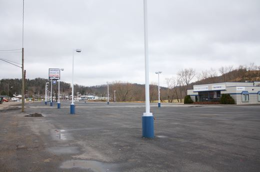 An Empty Auto Sales Lot