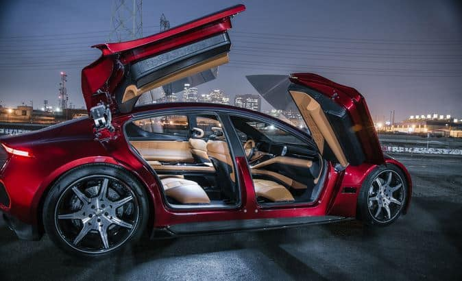 Fisker eMotion with doors open