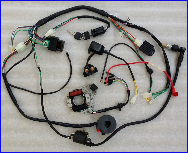 Motorcycle electrical harness