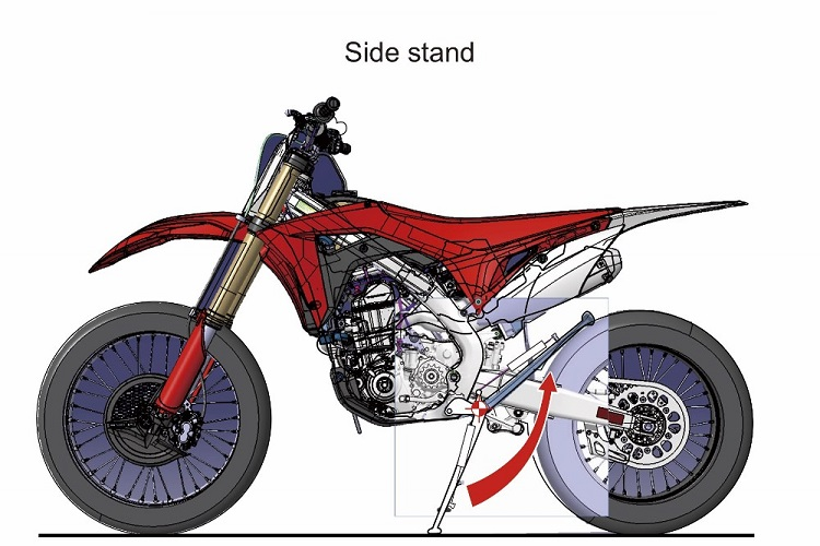 A Correct Motorcycle Side Stand