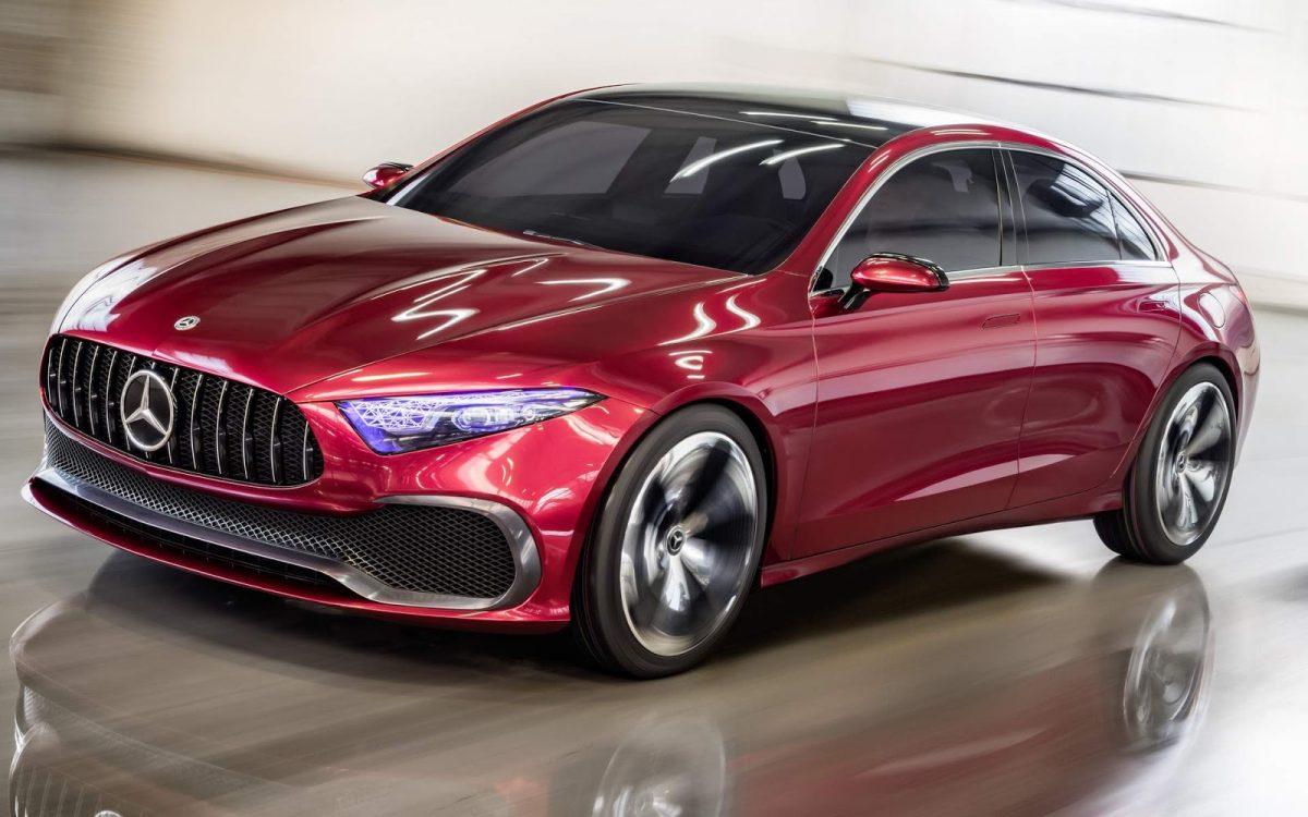 Mercedes-Benz A Class Sedan Concept 3/4 view
