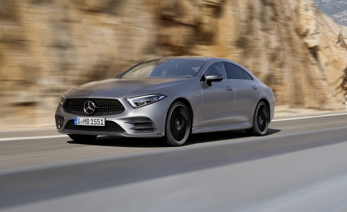 Upcoming Mercedes-Benz CLS Class coupe 3/4 view