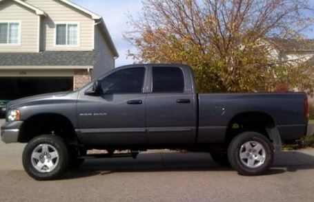 Lifted Dodge Ram tint tires