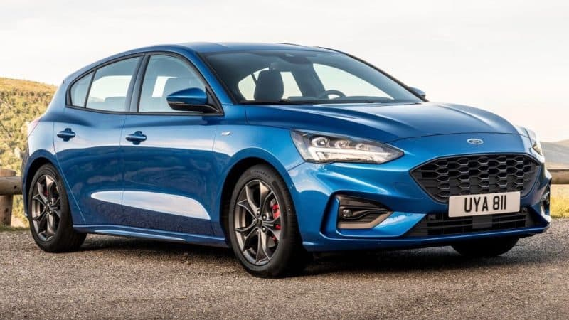 2019 Ford Lineup - Overseas version of the Ford Focus for 2019 front 3/4 view