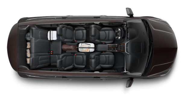 Chevrolet Traverse Interior from above