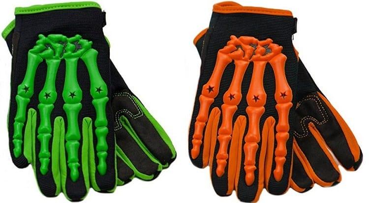 Kids Motorcycle Gloves - #09 - Typhoon Skeleton MX Gloves