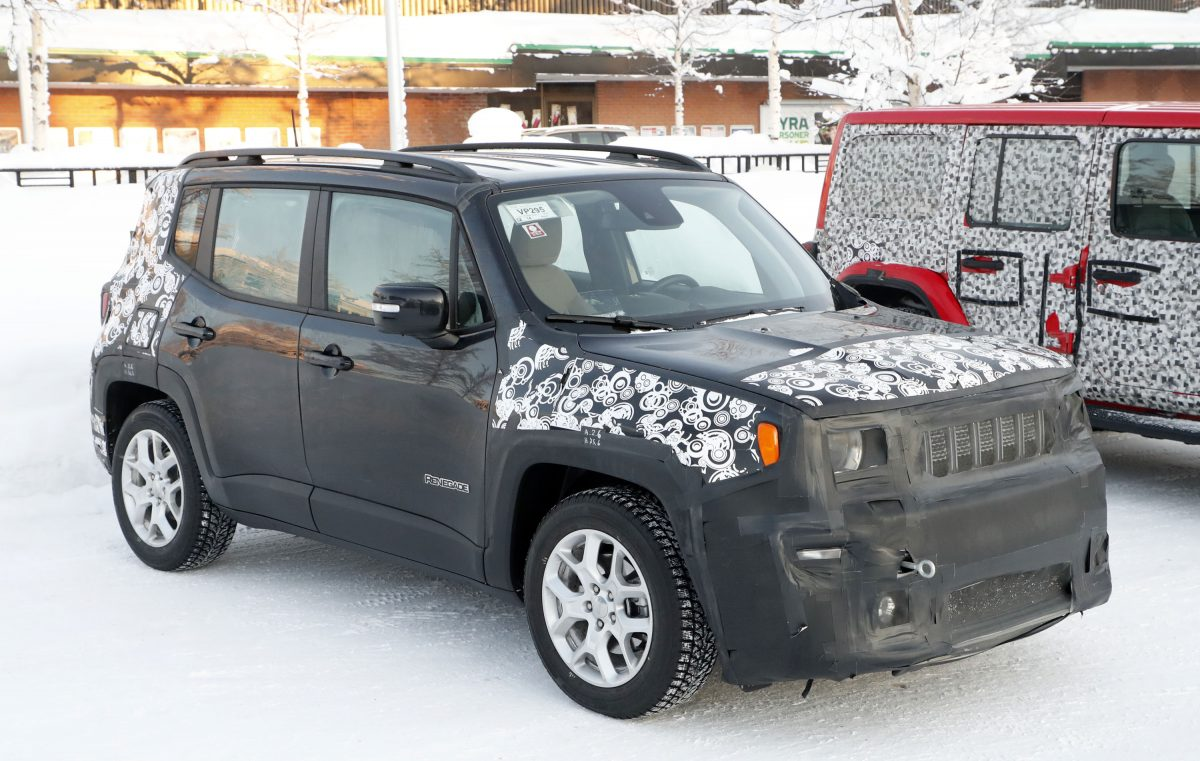 2019 Jeep Renegade test mule
