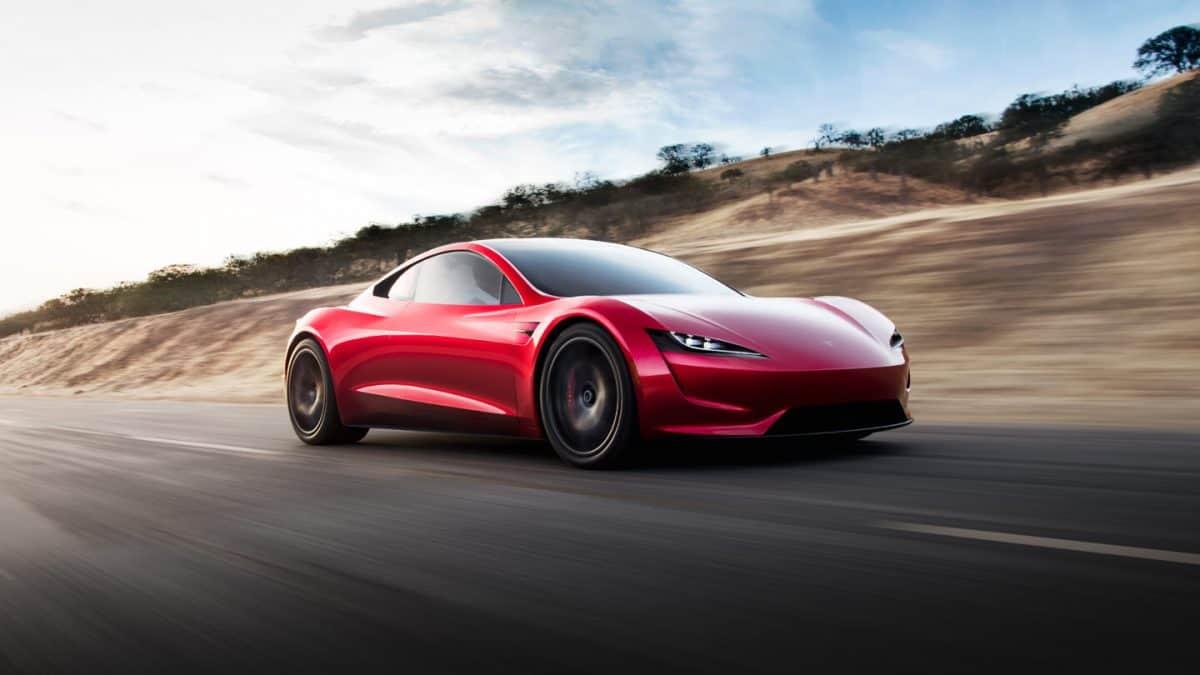 Tesla Roadster 3/4 view