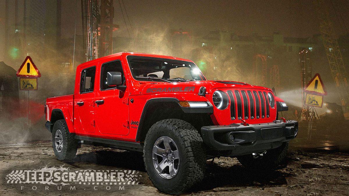 2019 Jeep Wrangler Pickup rendering by the Jeep Scrambler Forum
