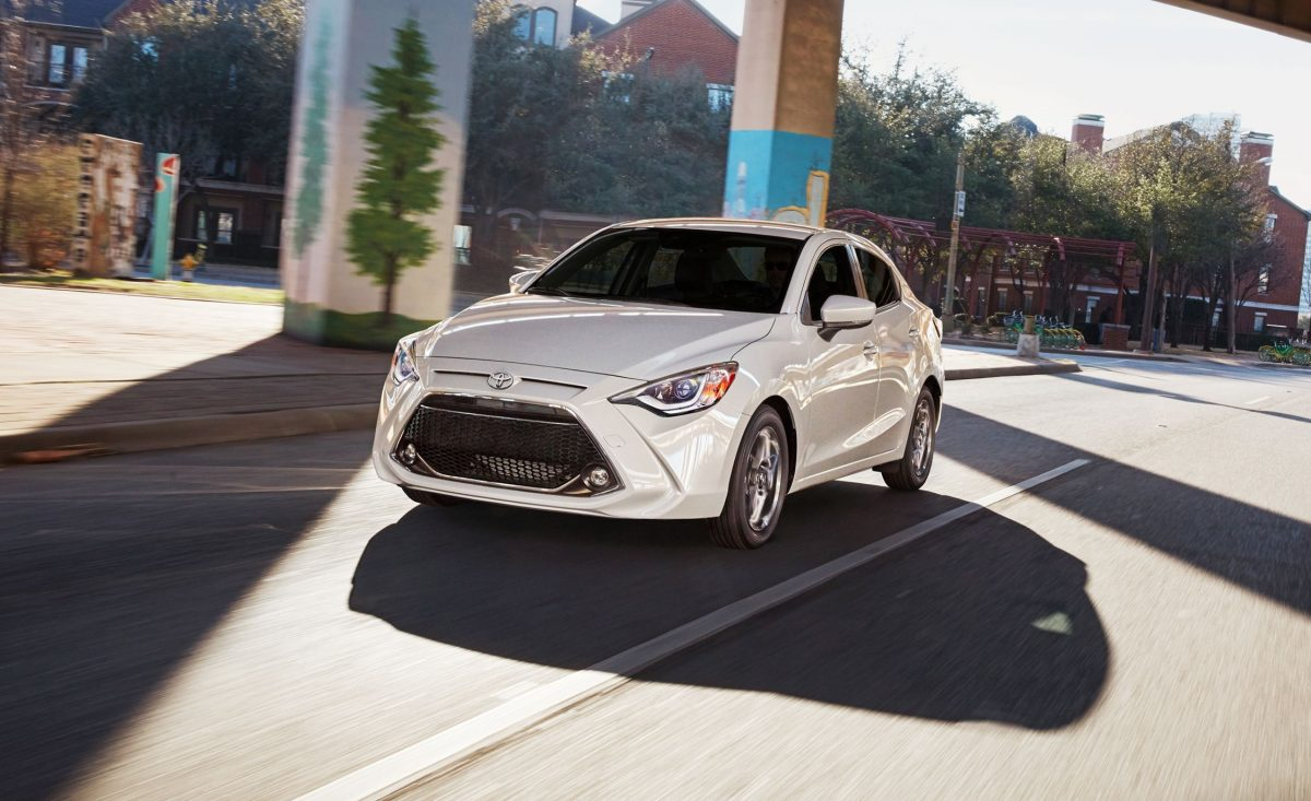 Toyota Yaris Sedan for 2019 front 3/4 view