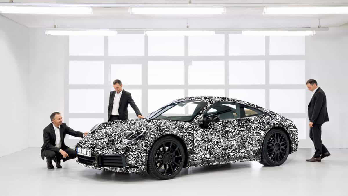 Upcoming Porsche 911 official test mule unveiling photo