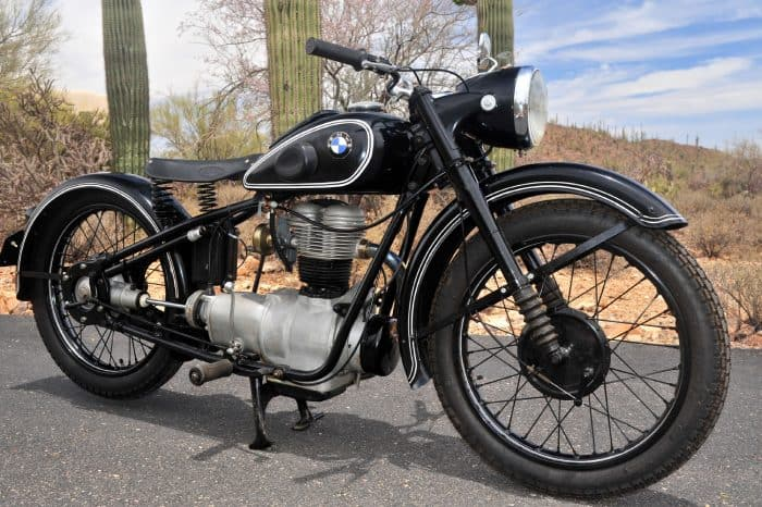 The R24 Motorcycle was the company's focus after WW2