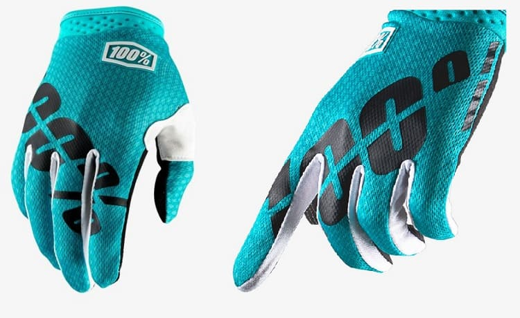 Kids Motorcycle Gloves - 100 Percent iTrack Glove