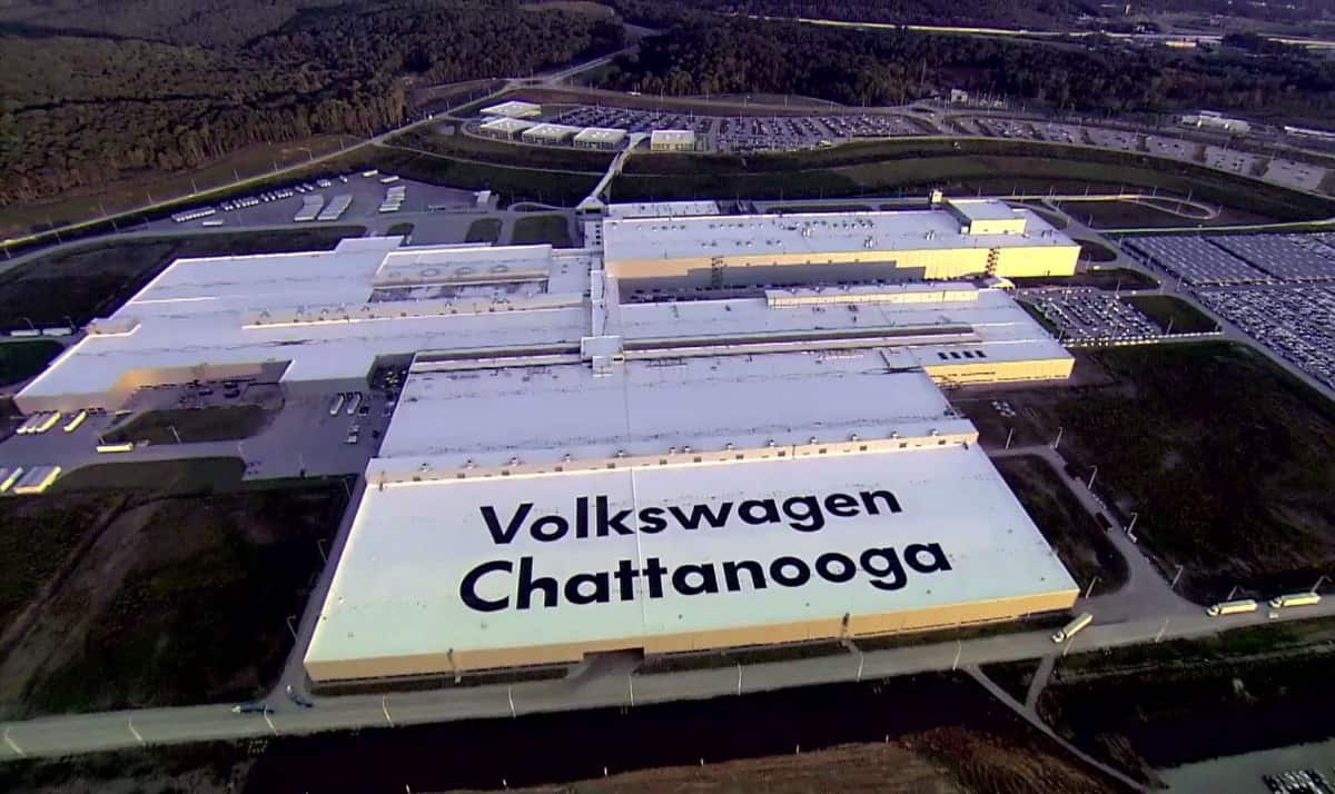 VW Plant Chattanooga - overhead view