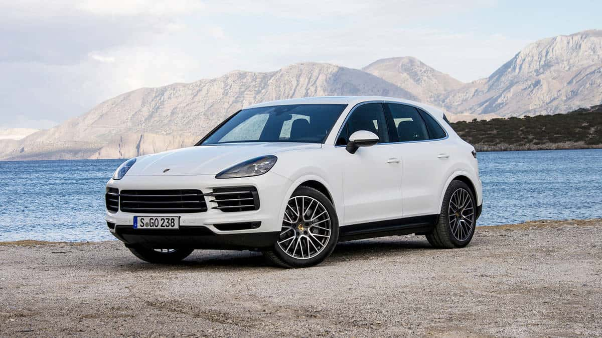 Porsche Cayenne for MY 2019 3/4 view