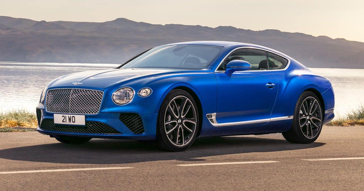 2019 Bentley Continental GT 3/4 view
