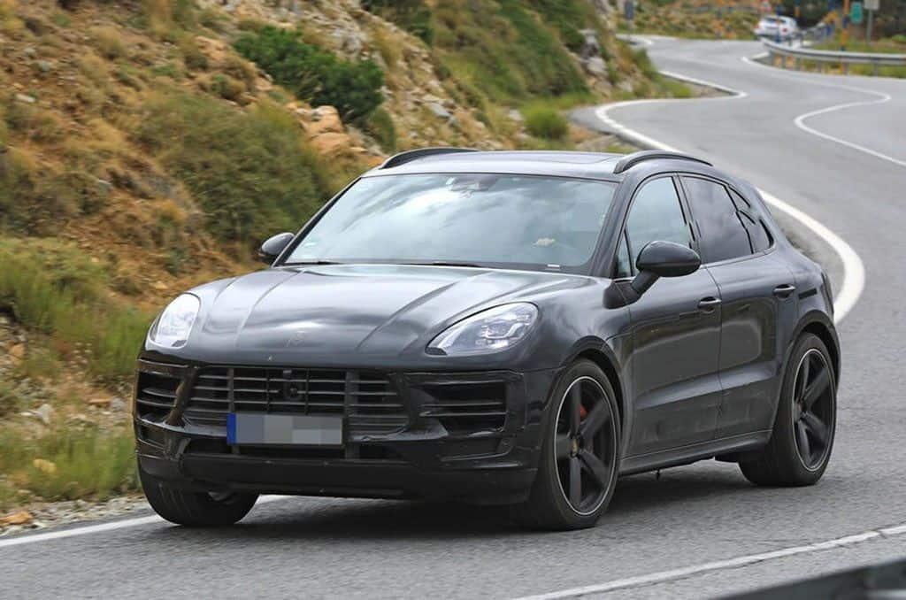 Porsche Lineup 2019 - Porsche Macan test mule front 3/4 view