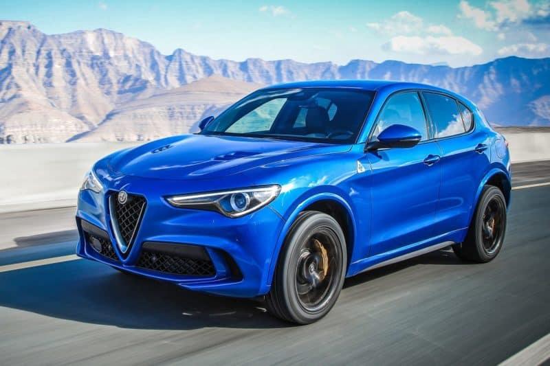 New Alfa Romeo Stelvio Quadrifoglio 3/4 view